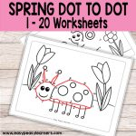 Spring Dot to Dot Numbers to 20 Worksheets