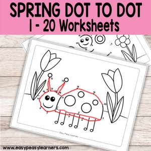 kindergarten worksheets archives  easy peasy learners spring dot to dot numbers to  worksheets