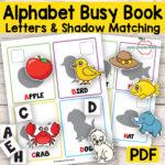 Quiet Book Printable Alphabet Busy Binder Activity Book