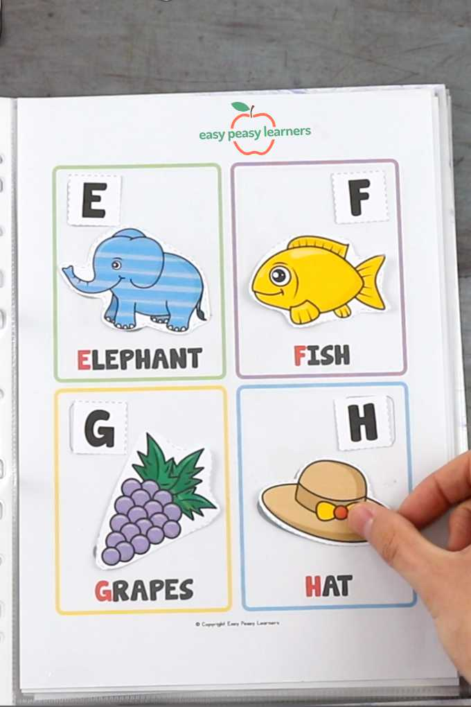 Alphabet busy binder book.