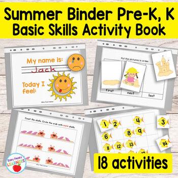 Quiet Book Printable Summer Binder for Preschool and Kindergarten