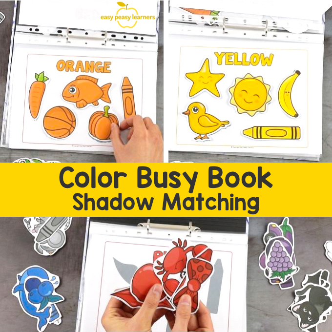 Quiet Book Printable Colors Busy Binder