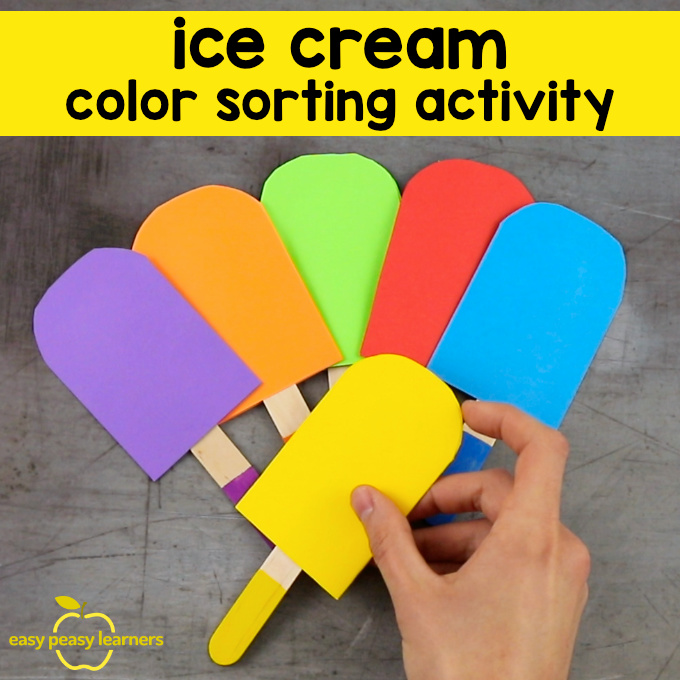 Ice Cream Color Sorting Activity