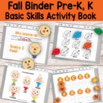 Quiet Book Printable Fall Binder for Preschool and Kindergarten