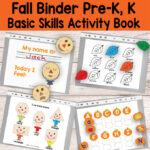 Quiet Book Printable Fall Binder for Preschool and Kindergarten