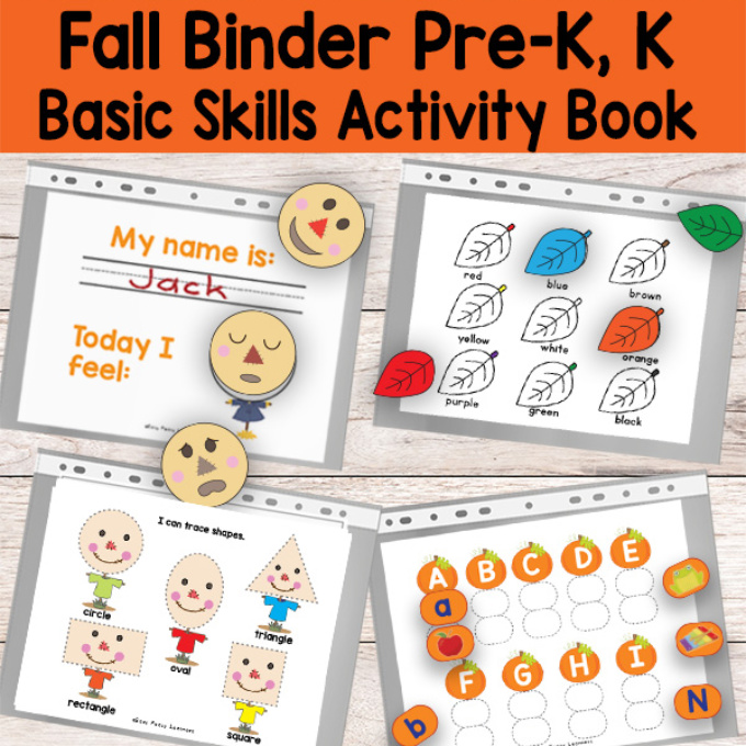 Printable Fall Binder Activity Book