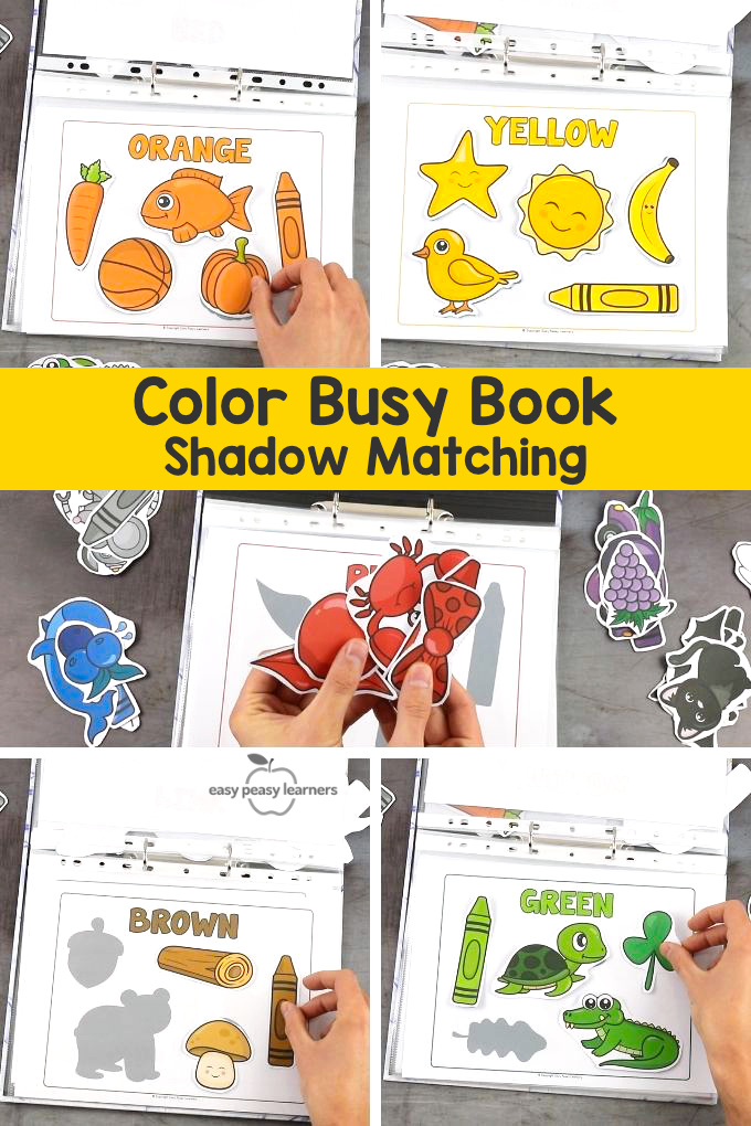 Quiet Book Printable Color Busy Binder Activity Book