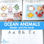 Quiet Book Printable Ocean Animals Binder for Preschool and Kindergarten
