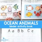 Quiet Book Printable Ocean Animals Binder for Preschool and Kindergarten