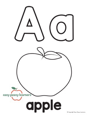 Apple Letter A